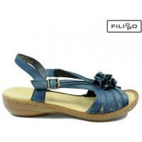Sandały RIEKER 60863-14 BLUE 8016119
