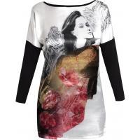 Monnari T-shirt z kobiecym portretem TSH3870