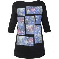 Monnari T-shirt z kwiatowymi kafelkami TSH4100