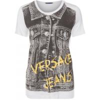 Versace Jeans T-shirt z nadrukiem biały 1VJ21D00M-A11