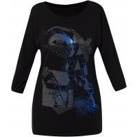 Monnari Dłuższy t-shirt z futurystycznym nadrukiem TSH3090