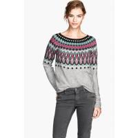H&M Sweter w żakardowy wzór 24884-E