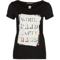 BOSS Orange VASYA T-shirt z nadrukiem czarny BO121D049-Q11