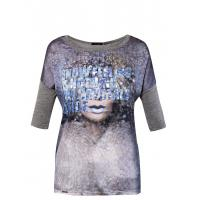 Monnari T-shirt z kosmicznym nadrukiem TSH2750
