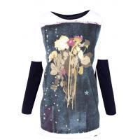 Monnari T-shirt z motywem barwnych kwiatów TSH3360