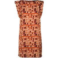 Sisley Sukienka letnia pomarańczowy 7SI21C03D-H11