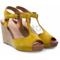 WRANGLER Sandały na koturnie jody 2 żółte 995353