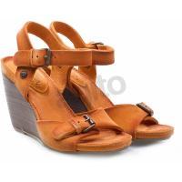 WRANGLER Sandały na koturnie lucy 1 wedge pomarańczowe 556233