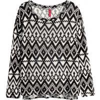 H&M Wzorzysty sweter 33976-B