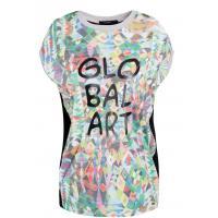Monnari Wzorzysty t-shirt oversize TSH0270