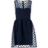 Sisley Sukienka letnia niebieski 7SI21C03A-K11