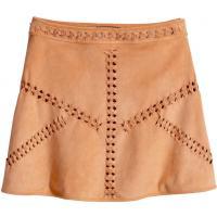 H&M Spódnica z imitacji zamszu 92814-A