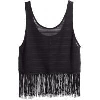 H&M Top z frędzlami 84557-A