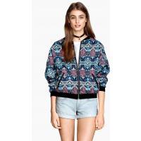 H&M Patterned bomber jacket 0214740008 Turquoise/Patterned