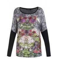 Monnari T-shirt z kolorowymi kwiatami TSH4440