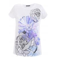 Monnari T-shirt z kwiatowym szkicem TSH6310