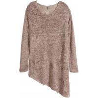 H&M Asymetryczny sweter 0261178008 Beżowy