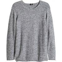 H&M Sweter 0317431003 Ciemnoniebieski