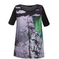 Monnari T-shirt z futurystycznym pejzażem TSH5490