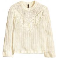 H&M Sweter 0323959004 Biały
