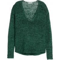 H&M Sweter 0329097007 Ciemnozielony