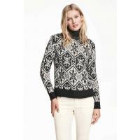 H&M Żakardowy sweter 0330268002 Ciemnoszary