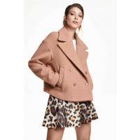 H&M Krótka kurtka bosmanka 0339211001 Pudrowobeżowy