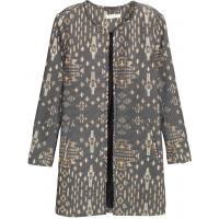 H&M Płaszcz z tkaniny z fakturą 0333898002 Czarny/Wzór