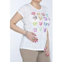 Monnari T-shirt z kwiatowym zdobieniem TSH2421