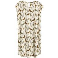 H&M Wzorzysta sukienka 0388958005 Naturalna biel/Jaszczurka