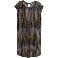 H&M Wzorzysta sukienka 0388958005 Zielony/Wzór