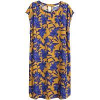 H&M Wzorzysta sukienka 0388958005 Musztardowożółty/Wzór