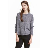 H&M Sweter 0404712012 Czarny melanż