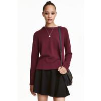 H&M Sweter 0404712012 Bakłażan