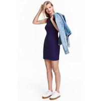 H&M Sukienka bez rękawów 0374762003 Fiołkowy