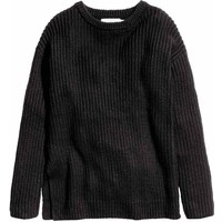 H&M Sweter oversize 0417411005 Czarny