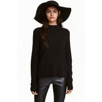 H&M Sweter w prążki 0405442008 Czarny
