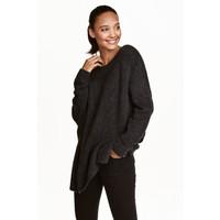 H&M Sweter 0390625009 Ciemnoszary melanż