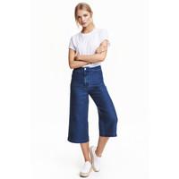 H&M Spodnie dżinsowe cullote 0442156001 Niebieski denim