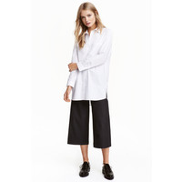 H&M Spodnie dżinsowe cullote 0442156001 Czarny