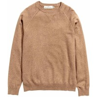 H&M Cienki sweter 0410750001 Ciemnobeżowy melanż