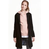 H&M Krótki płaszcz 0414017001 Czarny
