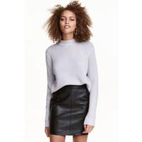 H&M Sweter w prążki 0405442001 Grey marl