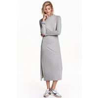 H&M Sukienka z półgolfem 0426212002 Szary melanż