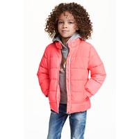 H&M Watowana kurtka 0389482001 Neonoworóżowy