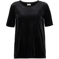 Vila VIVELVETINE T-shirt basic black V1021D0DI-Q11