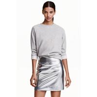 H&M Krótka spódnica 0430757012 Srebrny