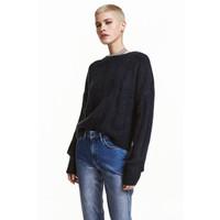 H&M Sweter z domieszką wełny 0422484005 Ciemnoniebieski
