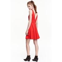 H&M Krótka sukienka 0429269008 Czerwony