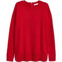 H&M Cienki sweter 0390125009 Czerwony